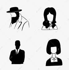 扁平化人物头像单色ppt图标素材图片免费下载 千库网