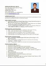 updated - Resume Format For Hospitality Industry