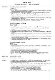 Physical Security Resume Samples Velvet Jobs