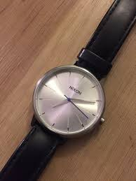 women s nixon kensington leather watch