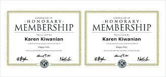 Fake Free Honorary Member Certificate Templates Honorary