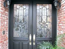 stained glass doors inserts craftsman traditional leaded beveled stained glass entry stained glass door inserts craftsman