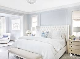 Soft Light Blue Master Bedroom with Blue Pillow Touches