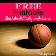 printable basketball themed party invitations fun happy home printable basketball party invitations from com