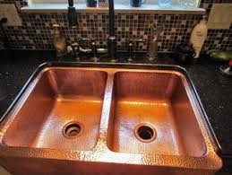 Custom Copper And Stainless Sinks For The Kitchen And Bathroom How To Care For A Copper Kitchen Sink