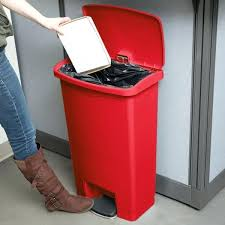 trash can 13 gallon slim resin red front step on trash can gallon black trash bags trash can 13 gallon
