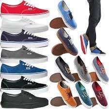 vans shoes for boys. vans authentic mens womens girls boys canvas plimsolls shoes (new 100% original) | ebay vans shoes for boys