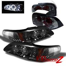 94 98 Mustang Corner Lights Details About 94 96 Ford Mustang V8 Gt Smoke 1pc Headlight Corner Lamp Altezza Tail Light L R