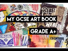 my gcse year 10 art book grade a