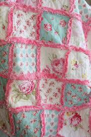Best 25+ Girls rag quilt ideas on Pinterest | Rag quilt patterns ... & Shabby Chic Rag Quilt Baby Girl Rag Quilt Pink Blue Green Nursery Adamdwight.com