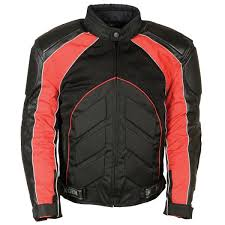 milwaukee leather men s combo black red armored leather textile mesh jacket leatherup com