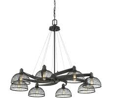8 light chandelier savoy house 1 8 8 light chandelier in bronze with metal mesh shade