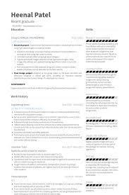 Resume For Internships Template Template For Resume Engineering Intern Resume Samples Visualcv