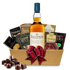 talisker 10 year single malt scotch whisky gift basket