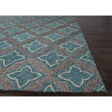 picture of jaipur catalina moroccan pattern polyester blue gray indoor outdoor rug cat20