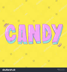 Vector Candy Card Design Hand Lettering Stock Vector Royalty Free