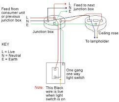 one way lighting junction box Starter Wiring Diagram one way lighting circuit using junction boxes