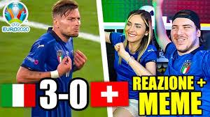 ITALIA vs SVIZZERA 3-0 - EURO 2020 REAZIONE del WEB ai MEME! - YouTube