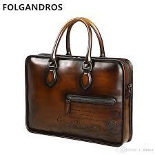 2019 brand luxury men s briefcases genuine leather bag french designer business gentlemen classic vintage top quality briefcase 222127 men briefcase best