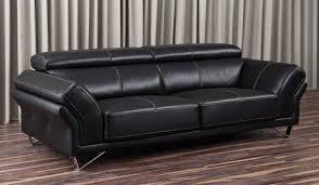 renata 3 seater leather sofa