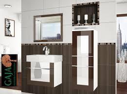 Badezimmermöbel Set Hochglanz In 4 Farbvarianten Gaja Küchen Shop