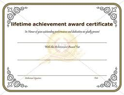 Achievement Awards Certificates Templates Certificate Of Achievement Template Awarded For Different