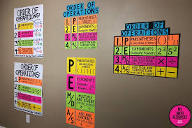 My Math Resources Pemdas Order Of Operations Poster