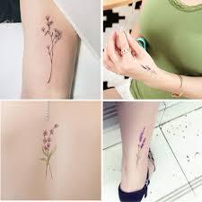 4 Ks Vodotěsné Dočasné Tetování Nálepka Roztomilý Sexy Květy