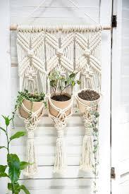 macrame plant hanger rope wall planter