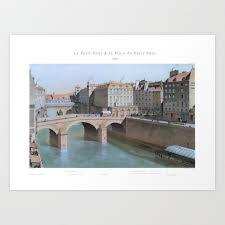 paris wall art le petit châtelet 1830
