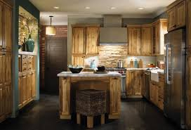 dark rustic cabinets. Modern Style Dark Rustic Kitchen Tables Hickory Cabinets Photos T