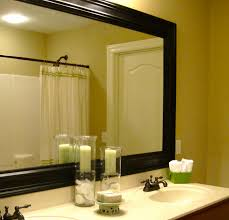 Decorating Bathroom Mirrors Framed Bathroom Mirrors With Themed Decorations Bathroom Ideas