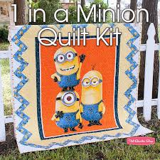 Minions by Despicable Me for Quilting Treasures Fabrics | Fat ... & 1 in a Minion Quilt KitFeaturing 1 in a Minion by Quilting Treasures ... Adamdwight.com