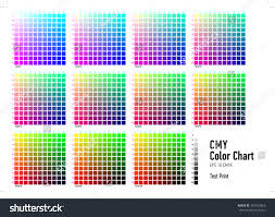 Unfolded Cmyk Colours Chart Cmyk Color Chart Illustrator