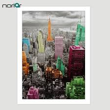 no frame modern wall art canvas printed empire state building new york city painting wall pictures for living room in painting calligraphy from home  on urban designs canvas wall art with no frame modern wall art canvas printed empire state building new