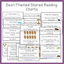Bear Themed Shared Reading Charts For Preschool And Kindergarten