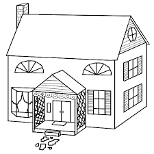 Small Picture Puzzles Halloween Themes Haunted Houses Haunted House Colouring