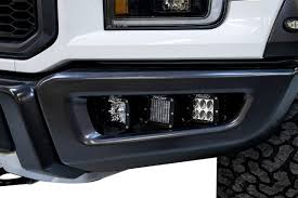 Rigid Fog Lights 2017 2020 Ford Raptor Rigid Industries Complete Raptor Triple Fog Light Bucket Kit 41610