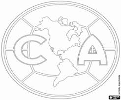 Small Picture Club America Soccer Team Logo Coloring Page Projects to Try