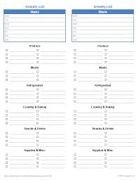 Groceries List Template Free Printable Grocery List And Shopping List Template
