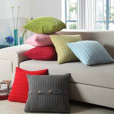 small pillow covers. Plain Pillow Modern Rainbow Solid Colour Cushion Covers Knitting Wool Pillow Cover Sided  Buttons Buckle Decorative Case For Sofa Seatin From Home  In Small A