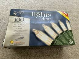 100 Count Mini Lights Holiday Time 100 Count Clear Mini Light Set Green Wire 29 Ft