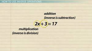 inverse operations in math definition examples lesson transcript study com