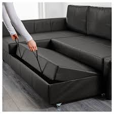 leather sofa bed. IKEA FRIHETEN Corner Sofa-bed With Storage Sofa, Chaise Longue And Double Bed In Leather Sofa A