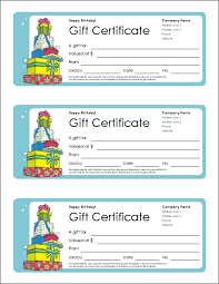 Free Gift Certificate Template And Tracking Log I Owe You Coupon