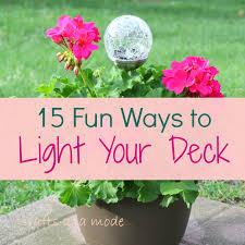 diy deck lighting. 15 awesome diy lighting ideas for your deck diy g