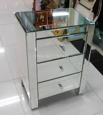 Nightstand Gold Mirrored Nightstand Mirror Furniture Modern