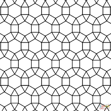 Form or arrange in a checkered or mosaic. Tessellation Coloring Pages Printable Coloring Home