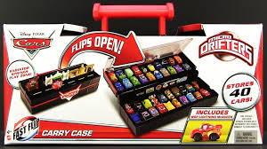 Disney Cars Fan Stand Display Case Micro Drifters Display Carry Case storing 100 Disney Pixar Cars 7