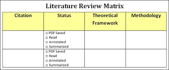 Literature review Questionnaire Template